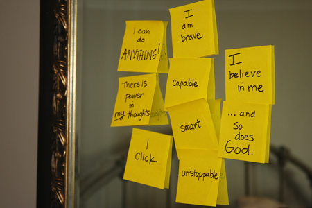 Sticky-Notes-on-Mirror